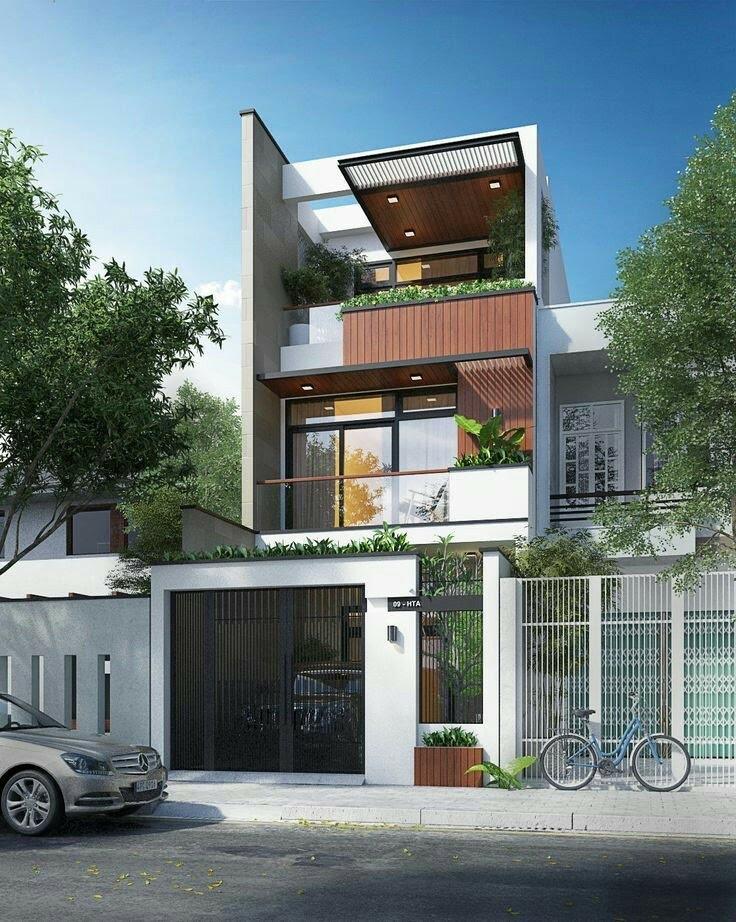 Nhà 3 tầng hiện đại - ihomeqn.com